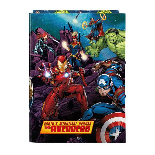 Carpeta solapas Avengers Marvel Heroes vs Thanos